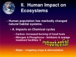 ii human impact on ecosystems
