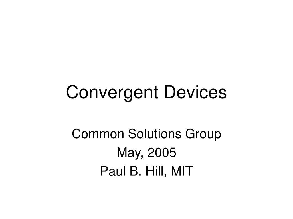 convergent devices l.