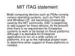 mit itag statement