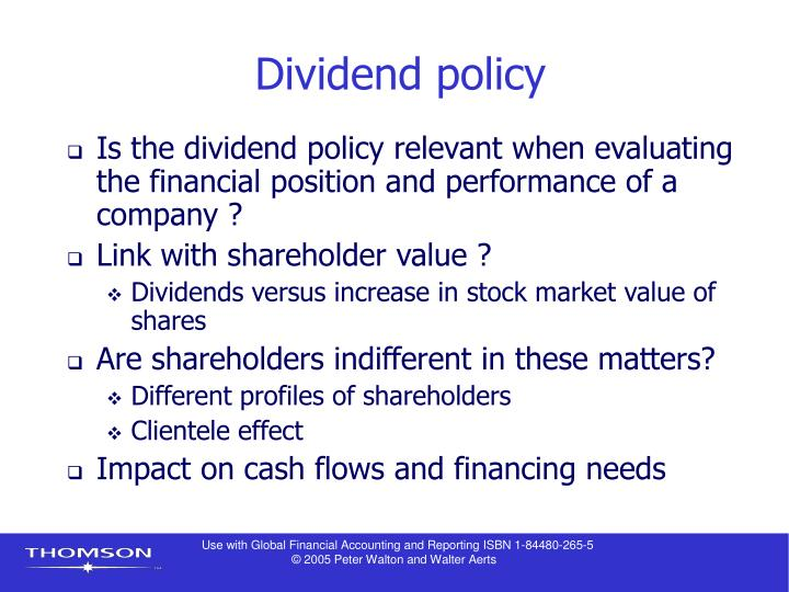 "dividend policies Chapter 13 dividend policy answers to concept review questions 1 what policies and payments does a firm's ""dividend policy"" consist of why is determining dividend policy more difficult today than in decades past a firm's dividend policy refers to its choice of whether to pay out cash to shareholders, in."