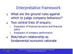 interpretative framework