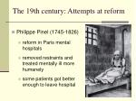 the 19th century attempts at reform