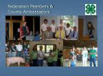 federation members county ambassadors
