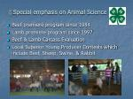 special emphasis on animal science
