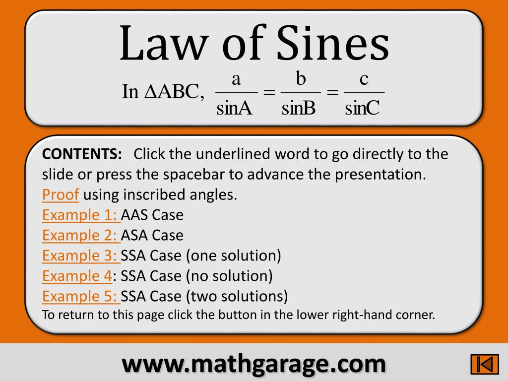 law of sines l.