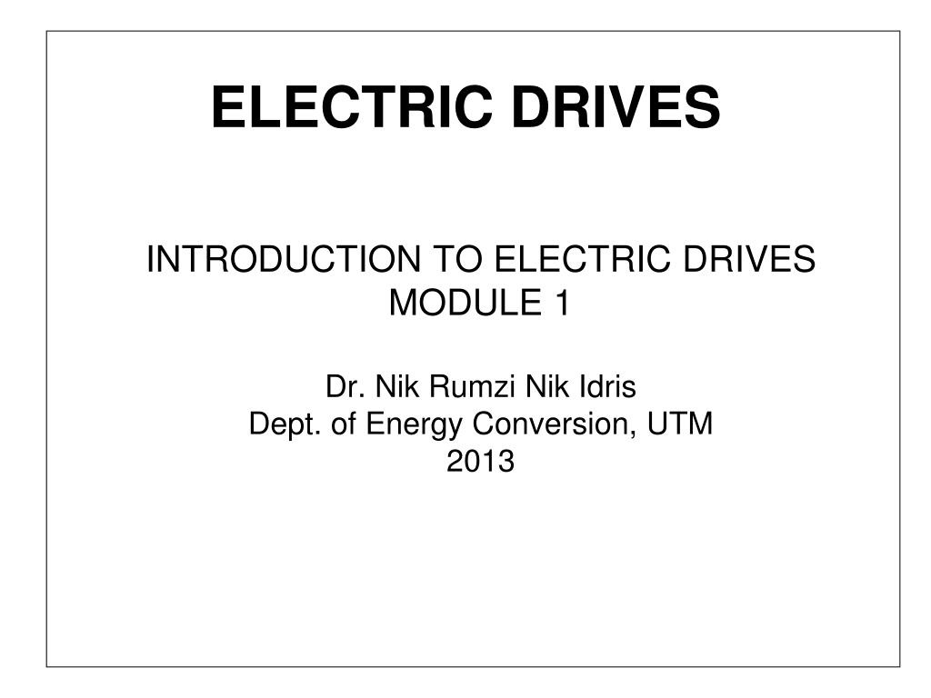 electric drives l.