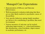 managed care expectations72