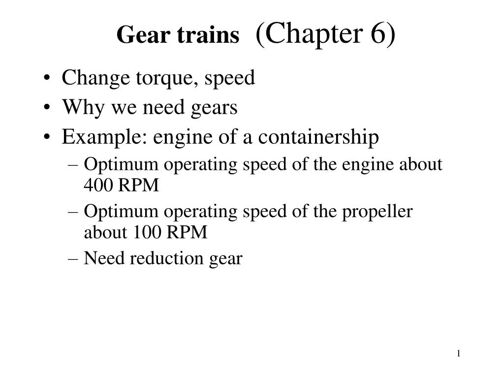 gear trains chapter 6 l.
