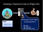 gatekeeper deployment step on widget host