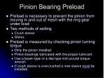 pinion bearing preload