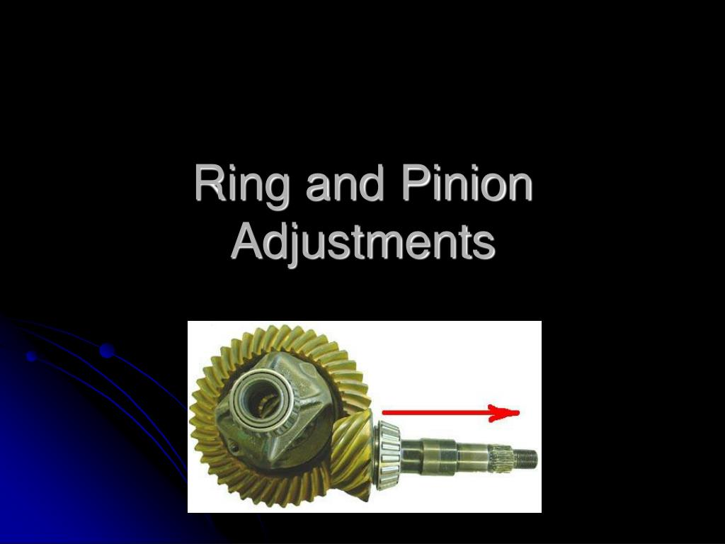 ring and pinion adjustments l.