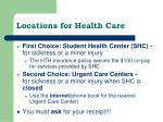 locations for health care