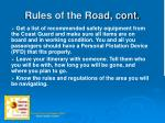 rules of the road cont7