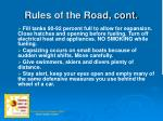 rules of the road cont8