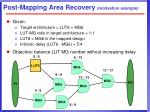 post mapping area recovery motivation example