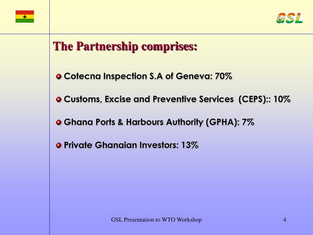 The Partnership comprises: