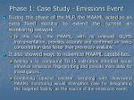 phase 1 case study emissions event19