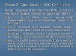 phase 2 case study voc complaints24