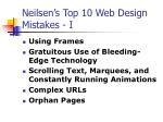 neilsen s top 10 web design mistakes i