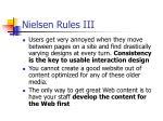 nielsen rules iii