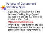 purpose of government statistical sites