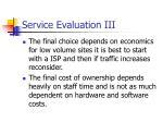 service evaluation iii