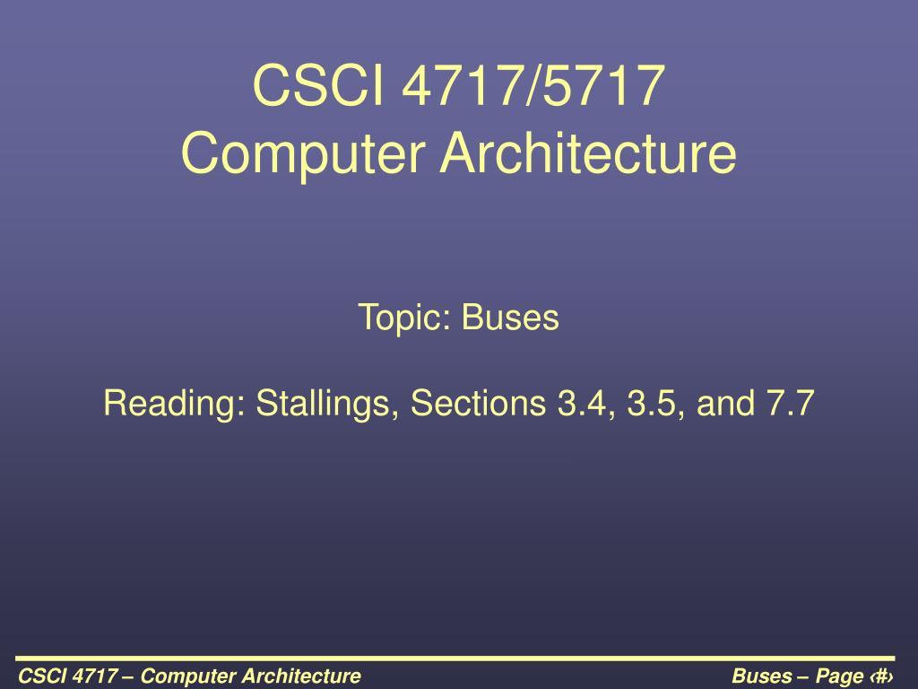 csci 4717 5717 computer architecture l.