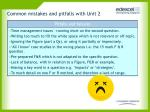 common mistakes and pitfalls with unit 2