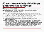 konstruowanie indywidualnego programu edukacyjnego17