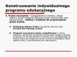 konstruowanie indywidualnego programu edukacyjnego18