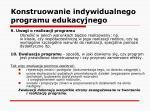 konstruowanie indywidualnego programu edukacyjnego24