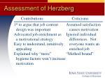 assessment of herzberg