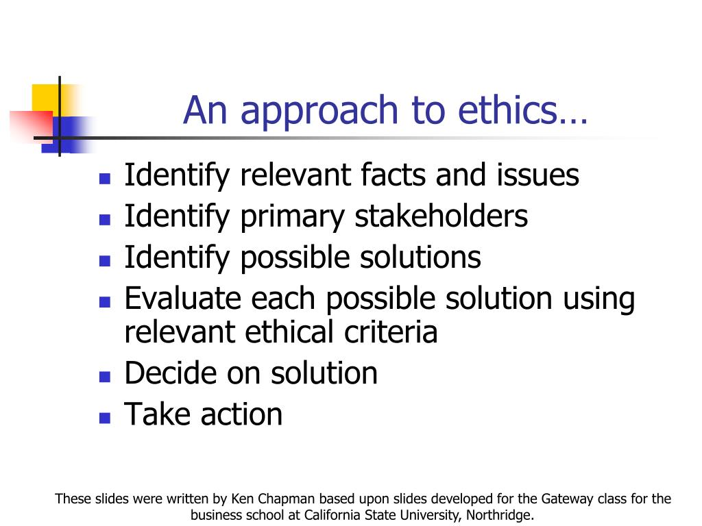 ethic approach