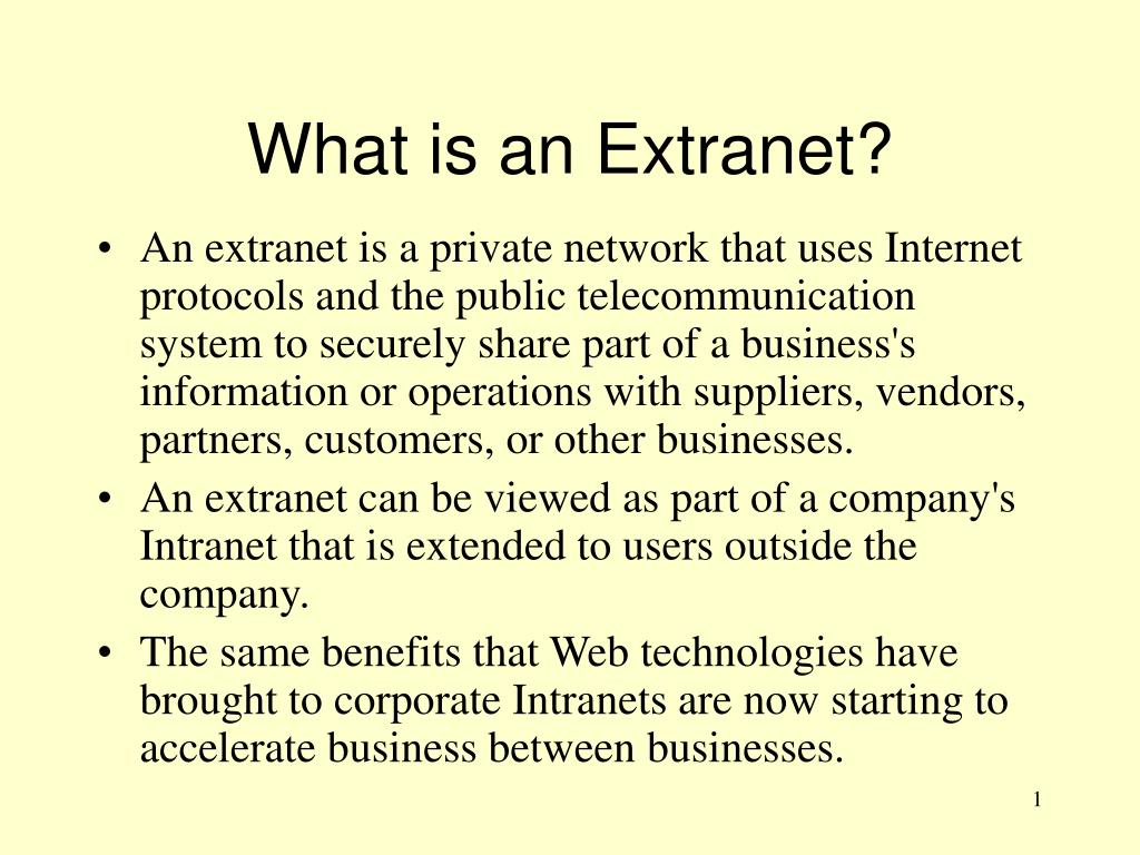 what is an extranet l.