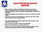 aural hearing search method