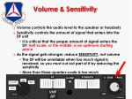volume sensitivity