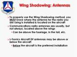 wing shadowing antennas