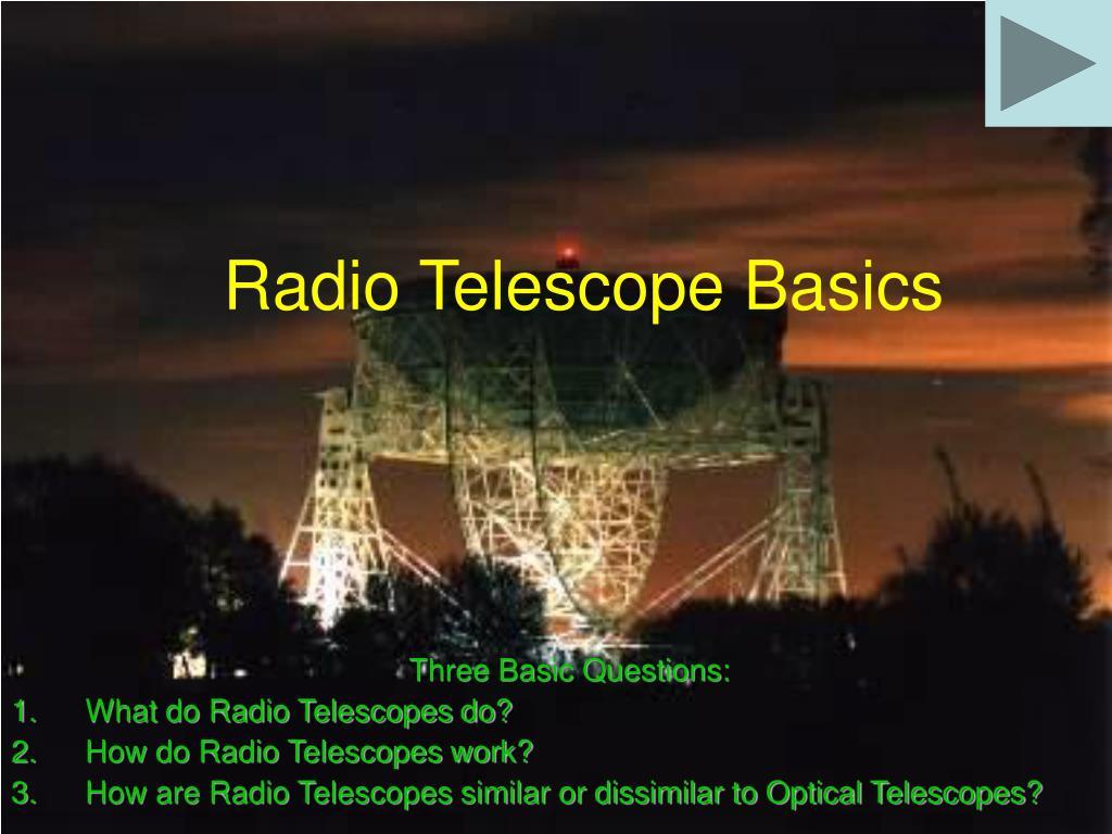 radio telescope basics l.