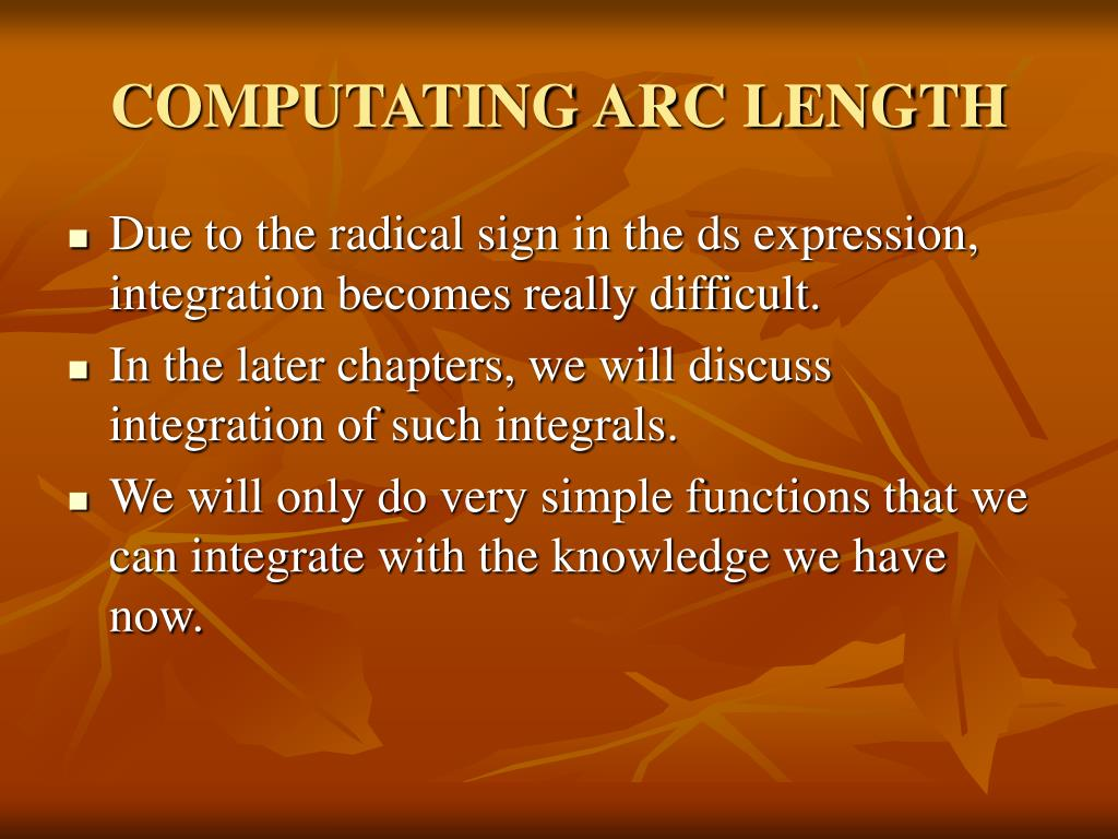 COMPUTATING ARC LENGTH