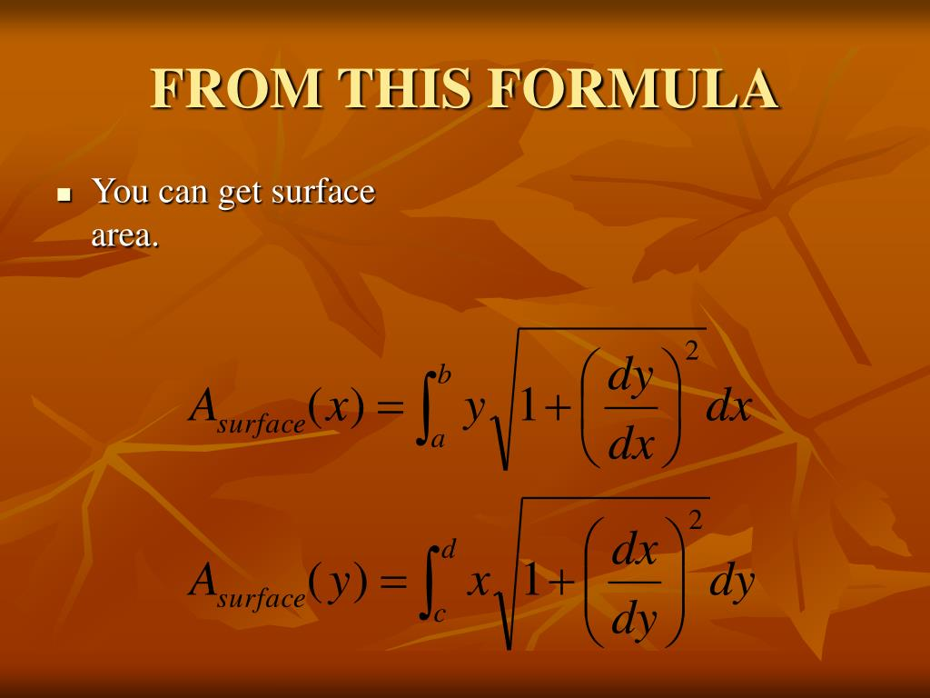 FROM THIS FORMULA