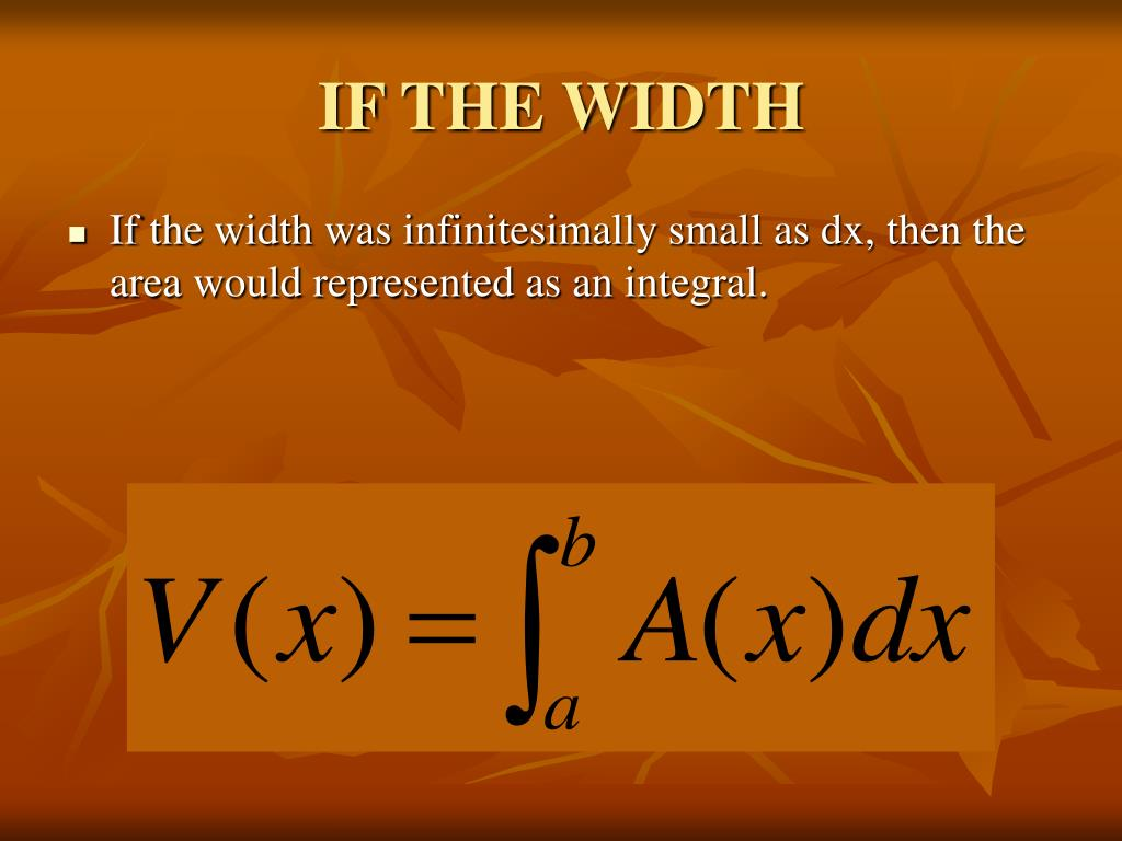 IF THE WIDTH