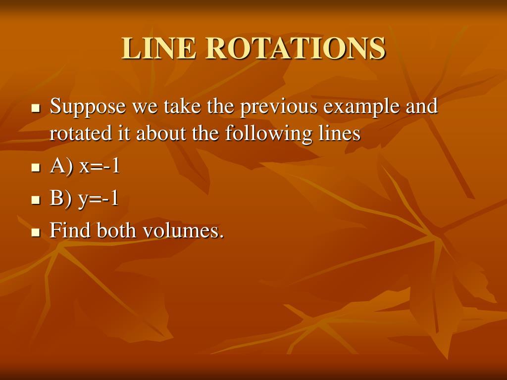 LINE ROTATIONS
