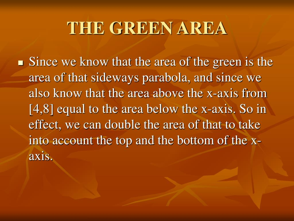 THE GREEN AREA
