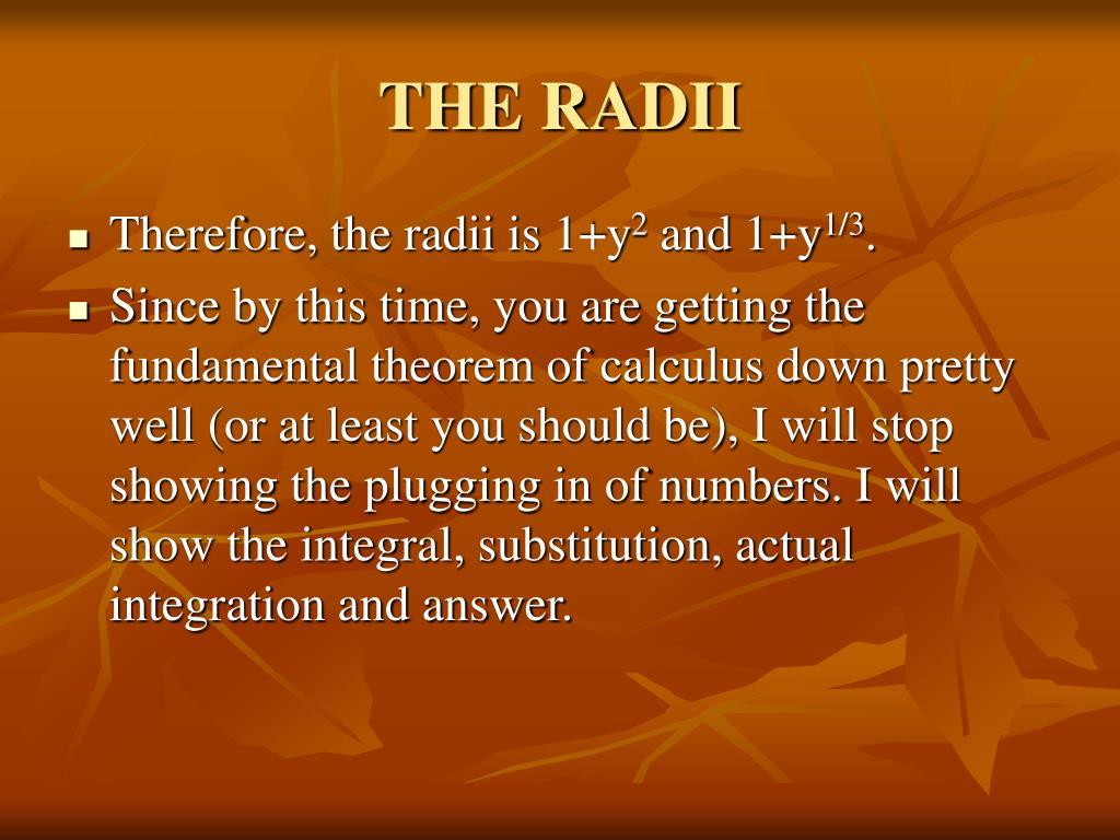 THE RADII