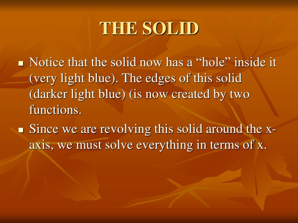 THE SOLID