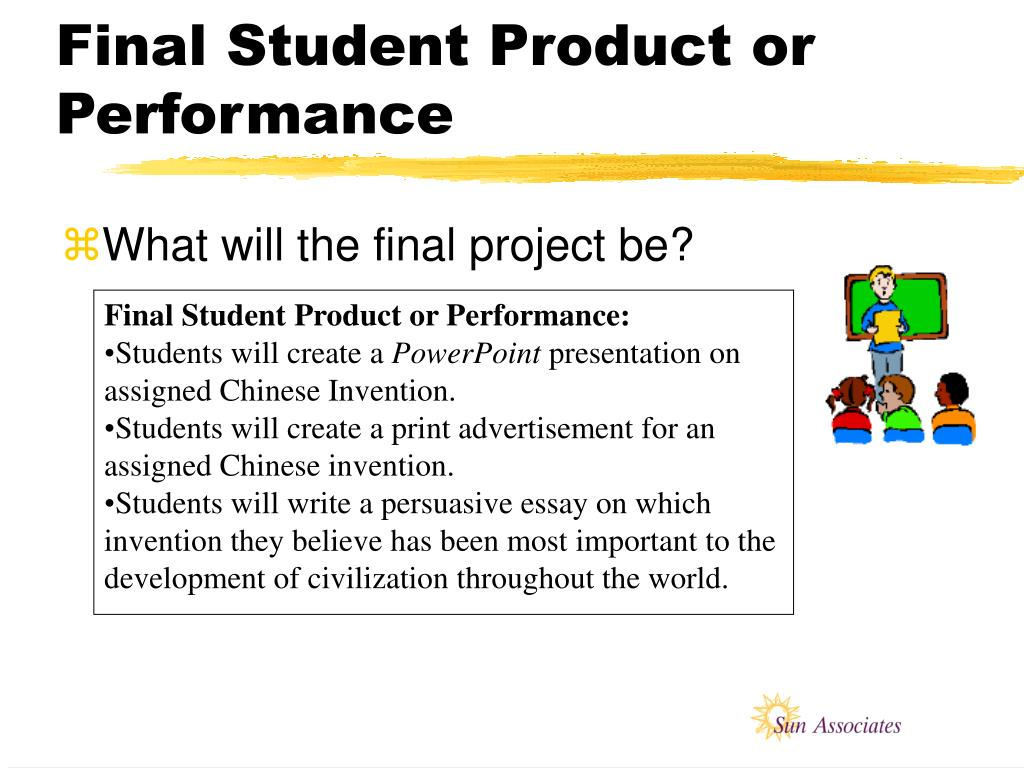 Final Student Product or Performance