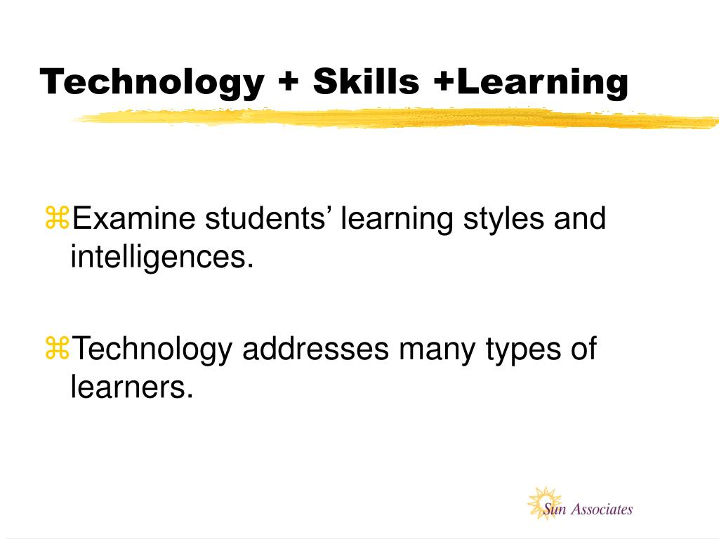 Technology + Skills +Learning