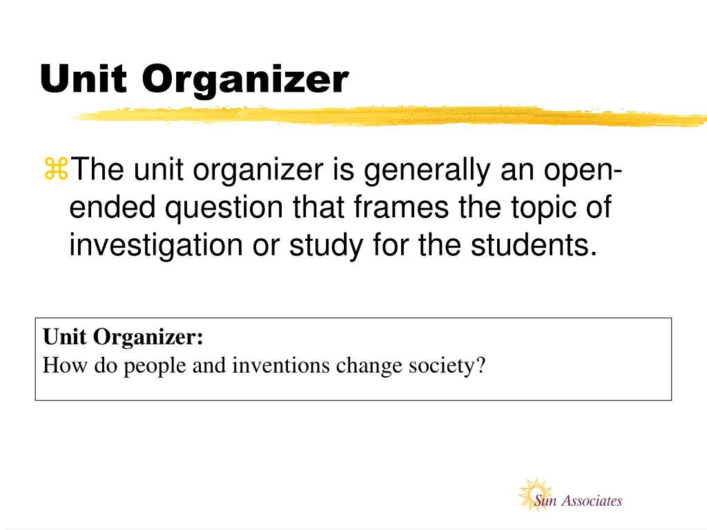Unit Organizer