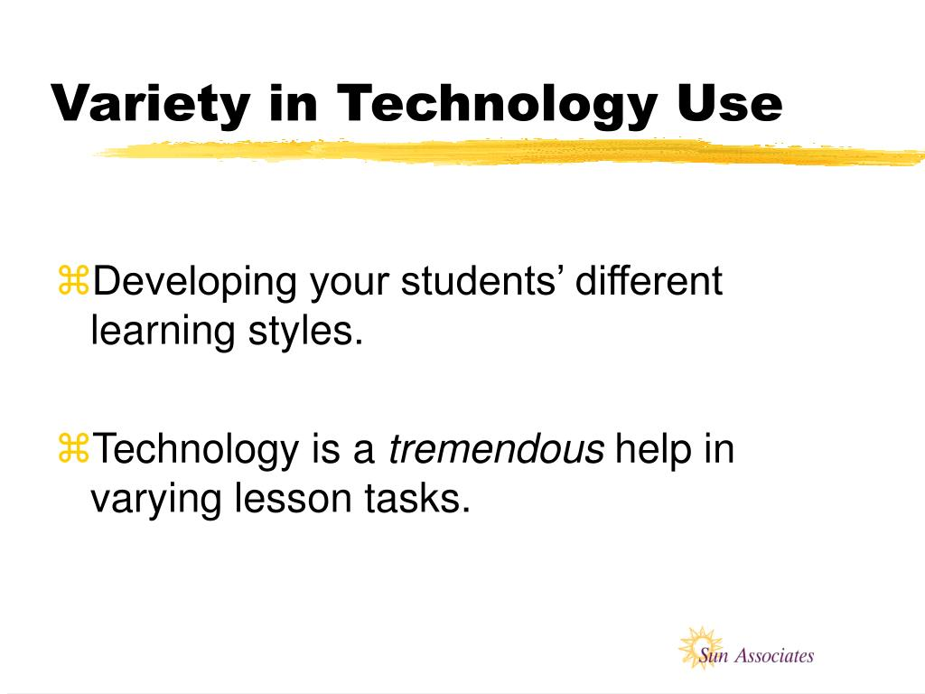 Variety in Technology Use