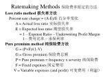 ratemaking methods